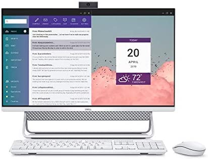 Dell Inspiron 7700 AIO Desktop, 27-inch FHD Infinity Touch All in One – Intel Core i7-1165G7, 12GB 2666MHz DDR4 RAM, 1TB HDD + 256GB SSD, Iris XE Graphics, Windows 10 Home – Silver (Latest Model)