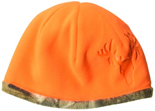 - Hot Shot Men's Reversible Camo Fleece Beanie - Blaze/Realtree Edge Outdoor Hunting Camouflage