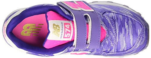 New Balance 574 Preschool Lifestyle Textile, Zapatillas de Gimnasia para Niños Rosa (Purple)