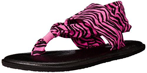 - Sanuk Kids Girls' Y Yoga Sling Burst, Fuchsia/Zebra, 6/7 M US Big Kid