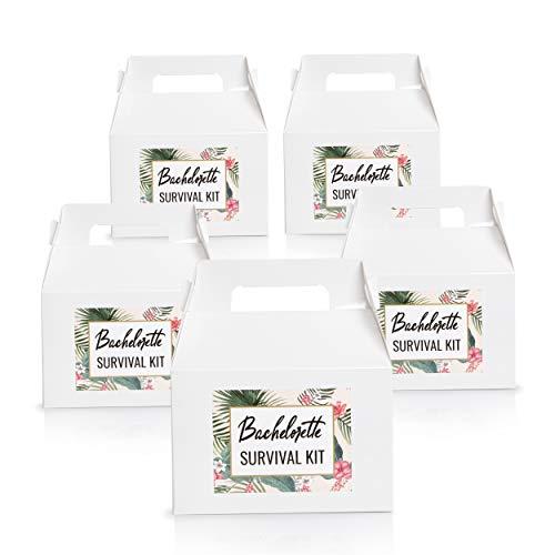 "Set of 5 Bachelorette Party""Survival Kit"" Gift Boxes"