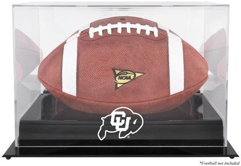 Display Football Buffalo Case (Sports Memorabilia Colorado Buffaloes Black Base Logo Football Display Case with Mirror Back - Fanatics Authentic Certified)