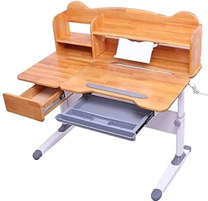 Mesa y sillas para niños Mesa inclinable y silla Mesa de estudio de estudio para niños Juego de mesa para niños Juego de mesa de madera de altura de estación de trabajo