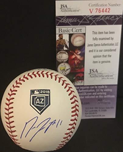 Jose Ramirez Indians Signed Official MLB 2018 Spring Training Baseball JSA COA