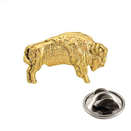 Creative Pewter Designs Buffalo Full Body 22K Gold Plating Pin, MG029MP