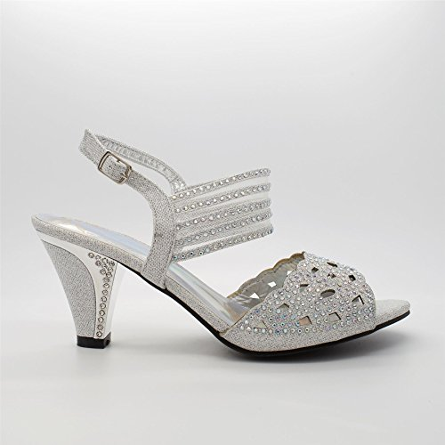 Aperto Silver London Retro Footwear Donna FBO7OP