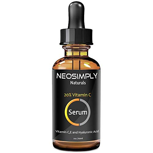 Neo Simply Naturals - 1 Oz Vitamin C 20% - Hyaluronic Acid & Vitamin E- Professional Grade - Serum Anti Aging Anti - Acne Treatment - Deep Hydration - Best For The Ultimate Face Rejuvenation