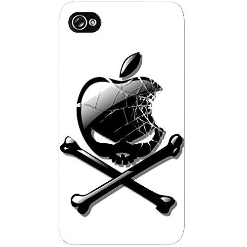 Coque Apple Iphone 4-4s - Tête de mort Apple