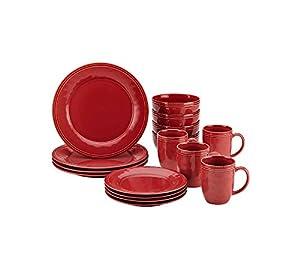 Rachael Ray Cucina Cranberry Red 16-pc. Dinnerware Set