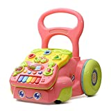 Ybriefbag-Toys Baby Three-in-one Activity Walker Baby Walker Trolley Baby Music Toy 6-7-18 Months Child Anti-Rollover Stroller (Color : Blue, Size : 404036.5CM)
