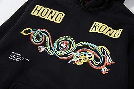WSDMY //Chinois Hong Kong Dragon Imprimer Pull Hoodies////Harajuku Sweats /À Capuche Streetwear Hommes De La////Mode Tops