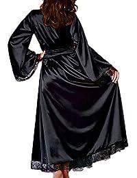SUJING Mens Fleece Bathrobe Long Shawl Collar Plush Robe Plush Shawl Kimono Bathrobe S-5XL