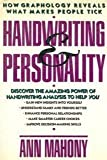 Handwriting and Personality, Mahony, Ann, 0805005862
