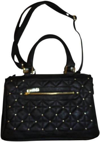 Steve Madden Womens Purse Handbag Bquilt Black