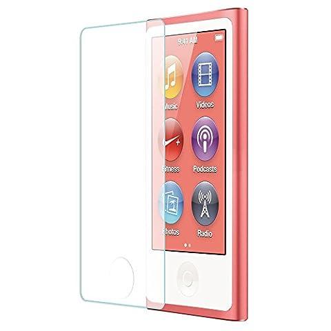 Tranesca Tempered Glass Screen Protector for iPod Nano 7th Generation (Ipod Nano Cases With Clip)