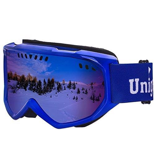 Unigear Ski Goggles, Anti-fog Snow Snowboard OTG Goggles 100% UV Protection for Men, Women and Youth