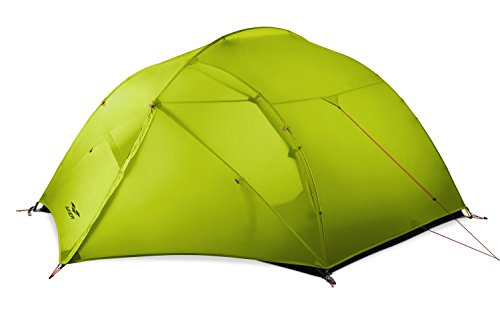 MIER 3 Person Camping Tent Lightweight Outdoor Backpacking Tent with Footprint, Waterproof and Easy Setup, 3 Season, Green