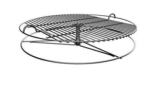 GrillUp Height Adjustable BBQ Grill Grate | 100% Stainless Steel | Fits Weber and other 22