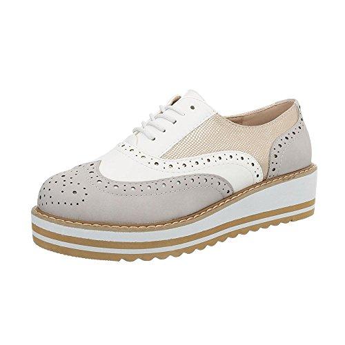 Planos Ital Y18056 Zapatos Mujer Multi con Grau Cordones Design rEE8TqxZ