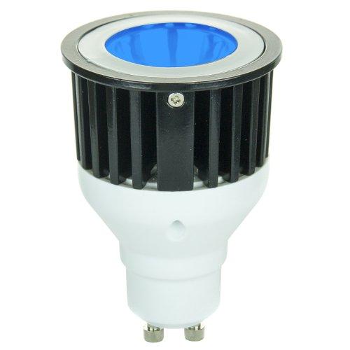 Blue Gu10 Led - Sunlite 80212-SU JDR/1LED/3W/GU10/B LED 120-volt 3-watt GU10 Based MR16 Lamp, Blue