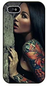 iPhone 6 Tattooed girl, tattoo - black plastic case, hot girl, girls by SHURELOCK TM
