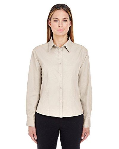 Ultraclub Ladies Whisper Twill Shirt - Ultraclub Ladies Whisper Twill Shirt 8976 -Stone 3XL