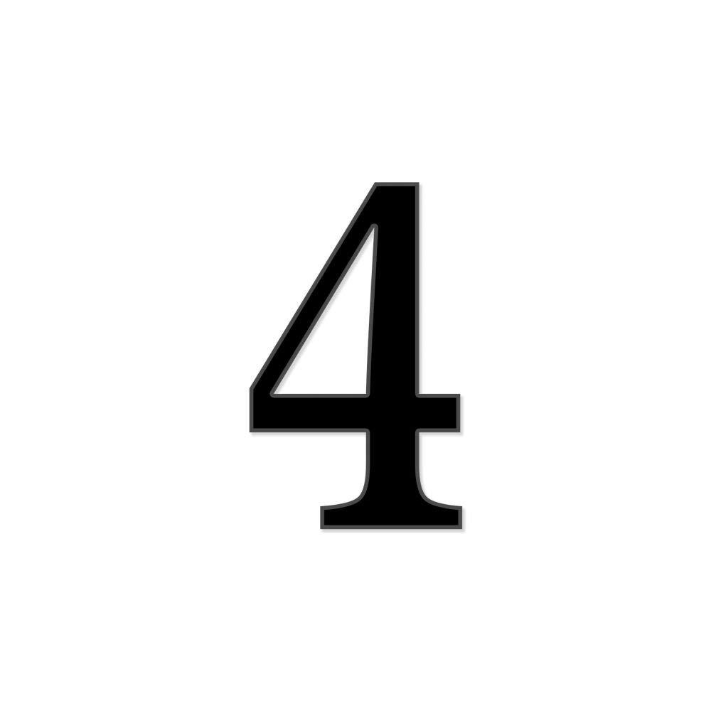 Chiffre adh/ésif 7 cm pour boite aux lettres Lettre C Gris clair