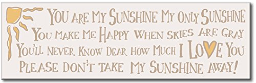 You Are My Sunshine - 5x16 Wooden Sign by My (You Are My Sunshine Wooden Sign)