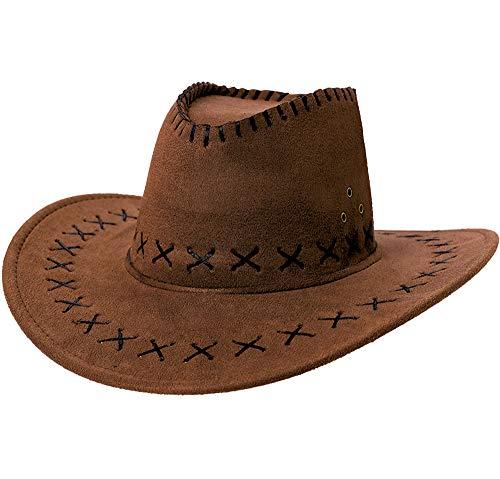 Faux Suede Cowboy Hat]()