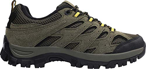 L-RUN Mens Running Shoes Waterproof Hiking Boots Outdoor Shoes Green 10 M US by L-RUN (Image #2)