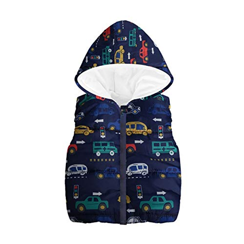 Price comparison product image Londony Clearance Sales,Little Boys Vests Outerwear Cute Car Print Faux Fur Jacket Warm Winter Hooded Clothes