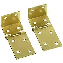 "National Hardware V550 1-1/2"" X 3/4"" Chest Hinges in Brass"