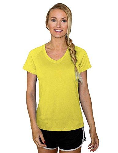 - Woolx Womens Mia Lightweight Moisutre Wicking Merino Wool T Shirt That Repels Odor, Lush, X-Small