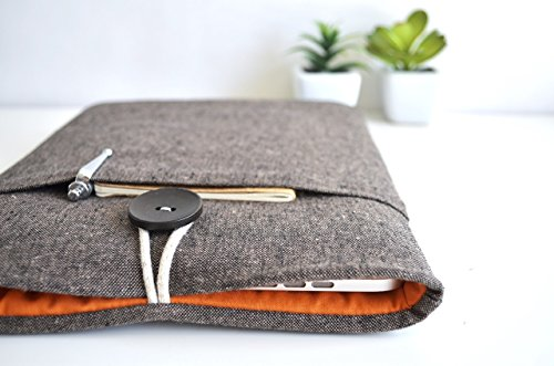 MacBook-Case-Sleeve-Custom-Sized-for-any-Pro-Air-Surface-or-Laptop-Brown-Linen-and-Orange