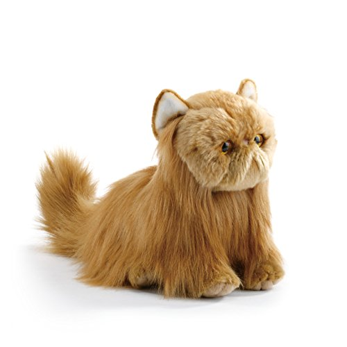 (Nat and Jules Sitting Large Persian Cat Muted Orange Children's Plush Stuffed Animal)