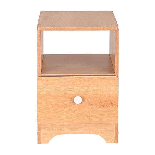 Shan-s Bedside Table,Wood Nightstand Organizer Bedside Locker Single Drawer with Storage Shelf Assemble Storage Cabinet for Bedroom (Dining Room Furniture Cabinets Corner)