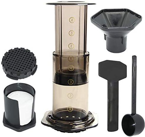 ZR&YW Presse Kaffeemaschine Pot Tragbare Kaffeemaschine Luftpresse Espressomaschine Mit 350Pcs Filtrierpapiere Für Heim Und Büro