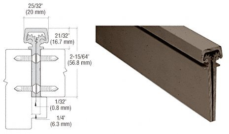 Dark Bronze Anodized 350 Series Heavy-Duty Concealed Leaf Continuous Hinge - 83'' by CR Laurence