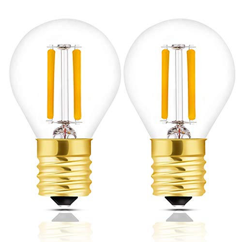 - Hizashi Super Mini Globe S11 LED Light Bulb, Dimmable, 2W E17 Intermediate Base LED Filament Replacement Bulb, 25 Watt Equivalent, 2700K Warm White Light for Desk Lamp, Cabinet, Closet, Hutch - 2 Pack