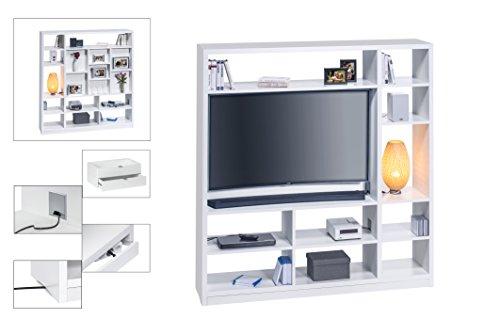 Maja Möbel Raumteiler Mit Cableboard Und TV Halterung, Holzdekor, Weiß,  178,30 X 40,00 X 186,10 Cm: Amazon.de: Küche U0026 Haushalt
