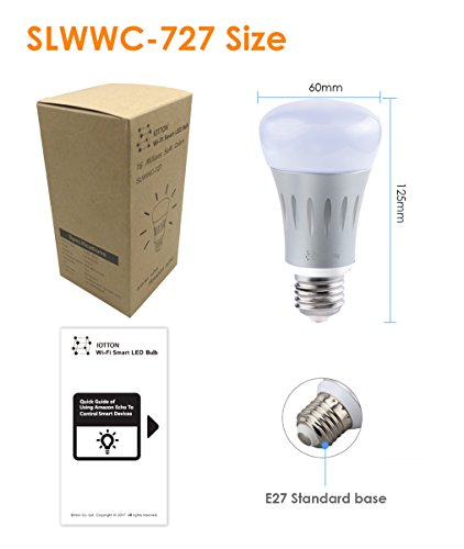 mua s n ph m smart led light bulb wi fi light bulb multicolored led light bulbs a19 dimmable. Black Bedroom Furniture Sets. Home Design Ideas