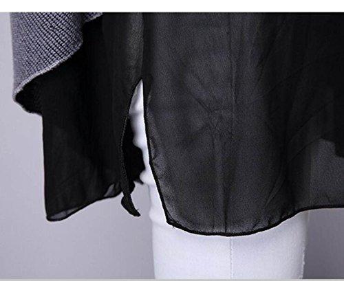 Faux Sauvages Femmes Casual Lache Deux Tricot Mode CHLXI vwnZqxI0q