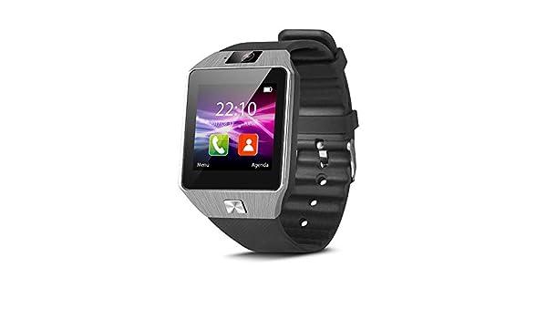 Smartek Smartwatch Reloj Inteligente con SIM, Pulsera de Actividad, Reloj de Fitness con Podometro SW-842 (Negro)