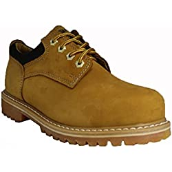 ZANCO MEN'S CONSTRUCTION BOOTS STEEL SHANK WHEAT ACTION LEATHER # 7425
