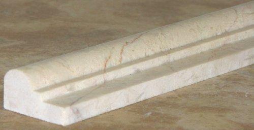 Crema Marfil Like Botticino Beige Marble Polished Chair Rail Listello Decorative Moldings Chairrail Trims 2