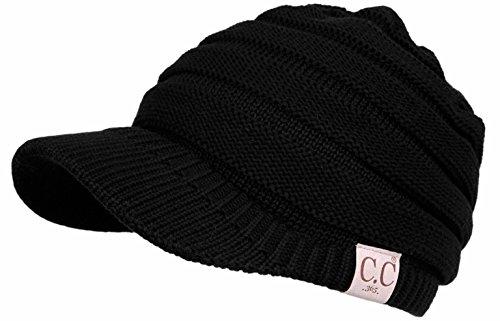 Visor Brim Beanie (BT1-1322-06 CC 365 All Season Brim BeanieTail - Black)