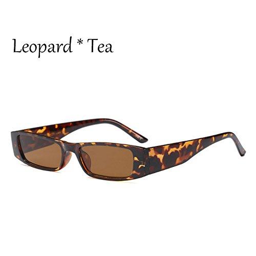 Tonos Señoras Sol De Blanco Leopard Negro De Gafas Vintage C3 G470 C6 De Leopardo Mujer Tea Gris TIANLIANG04 Pequeñas Cuadradas Sol Gafas qpv6O