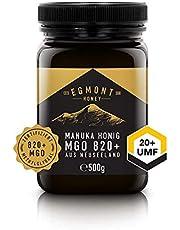 Manuka-Honig 820+ MGO original aus Neuseeland UMF 20+ - 100% rein, zertifiziert, natürlich antibakteriell, aktiver Manuka-Honey   Egmont Honey