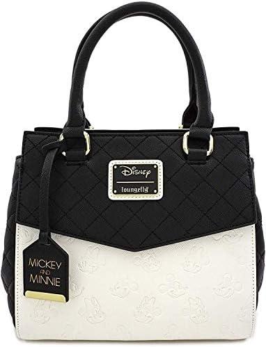 Loungefly Disney Mickey & Minnie Mouse Faux Leather Handbag