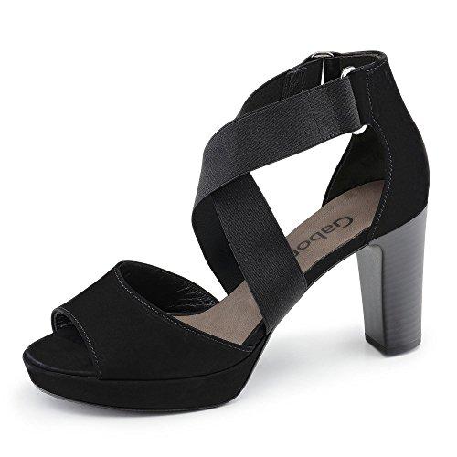 Gabor 23.591.17 - Sandalias de vestir para mujer Negro - negro